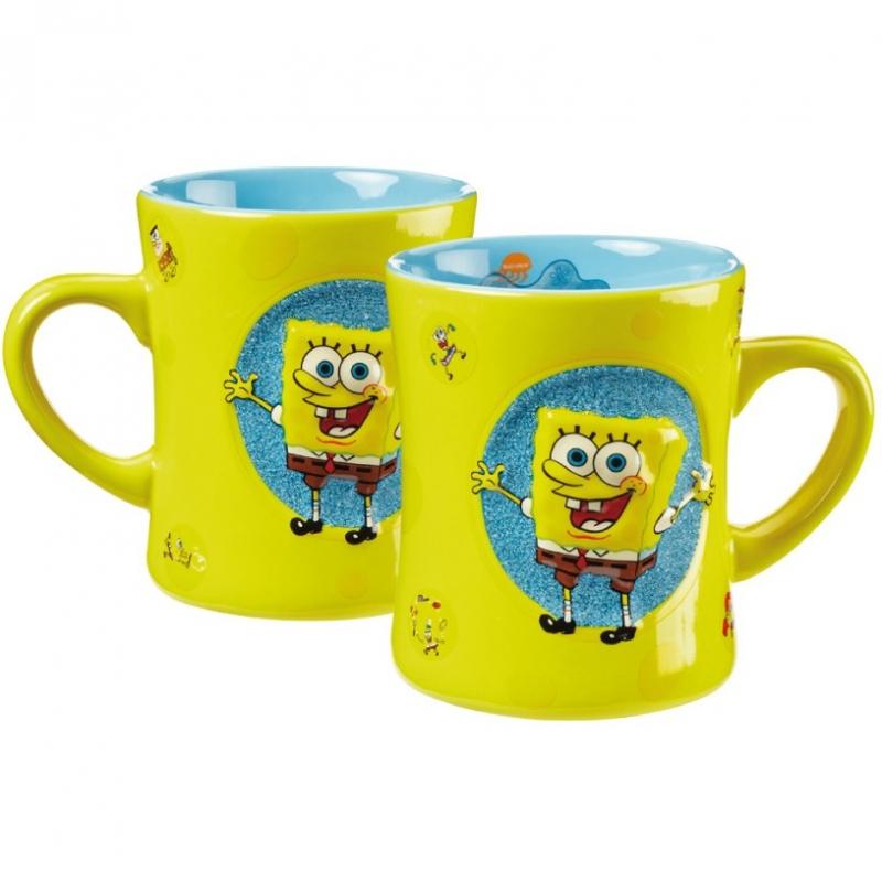 spongebob tasse mit relief 400ml grosshandel f r spielwaren und lizenzartikel. Black Bedroom Furniture Sets. Home Design Ideas