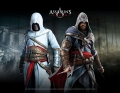 Assassins Creed Wallscroll / Wand-Schriftrolle - Altair & Ezio in Blackroom
