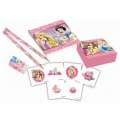 Princess & Animals - Starter-Set (4 Bleistifte, 4 Radiergummis, 4 Sticker-Boxen, 4 Notizhefte)