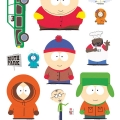 SOUTH PARK - Stickers / Aufkleber - 50x70cm - Characters#1