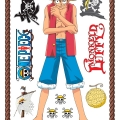 ONE PIECE - Stickers / Aufkleber - 50x70cm - Luffy