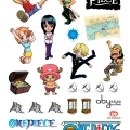 ONE PIECE - Stickers / Aufkleber - 50x70cm - SD Characters